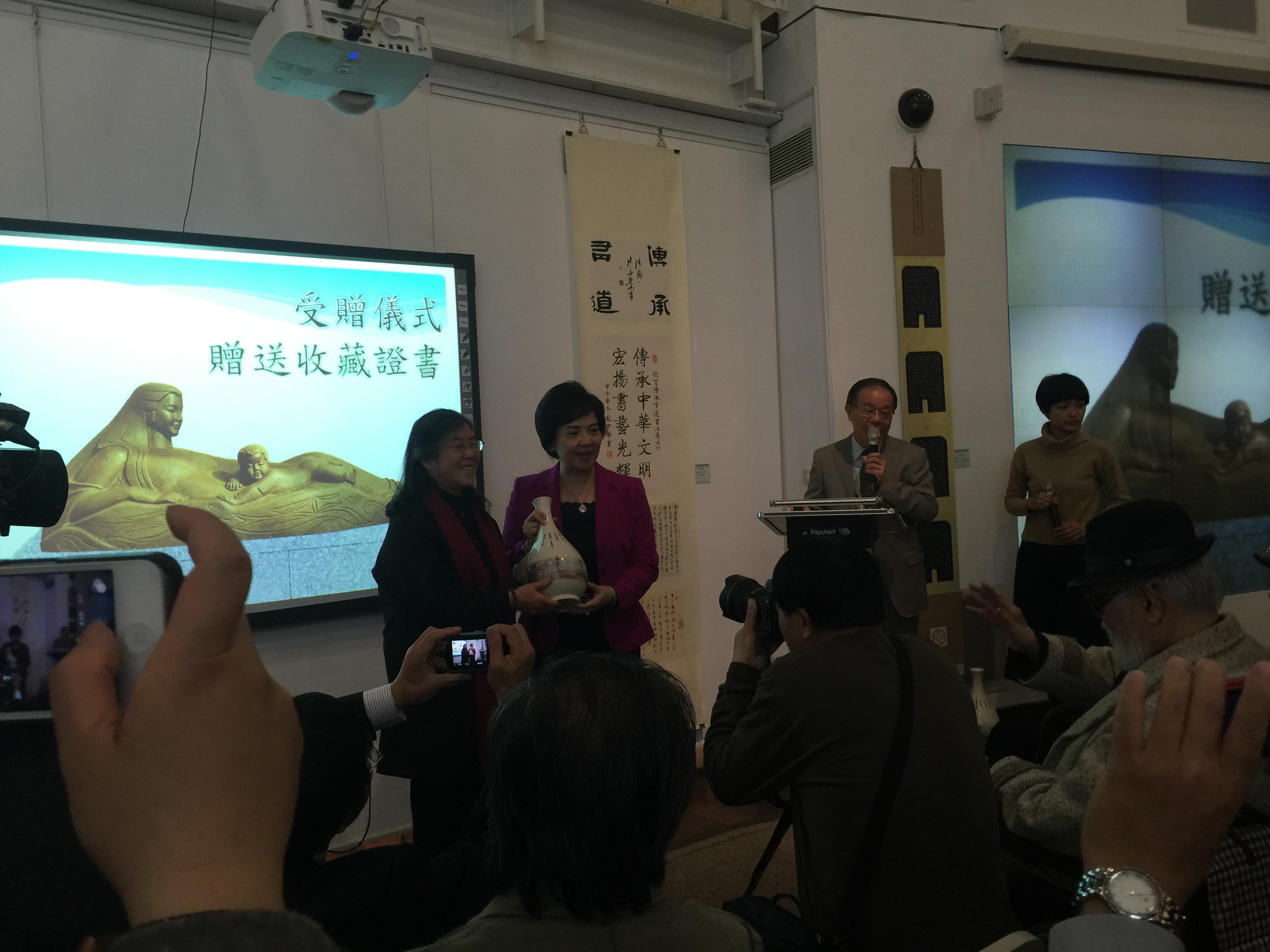 《黄河母亲》台湾淡江大学捐赠仪式现场 (6)
