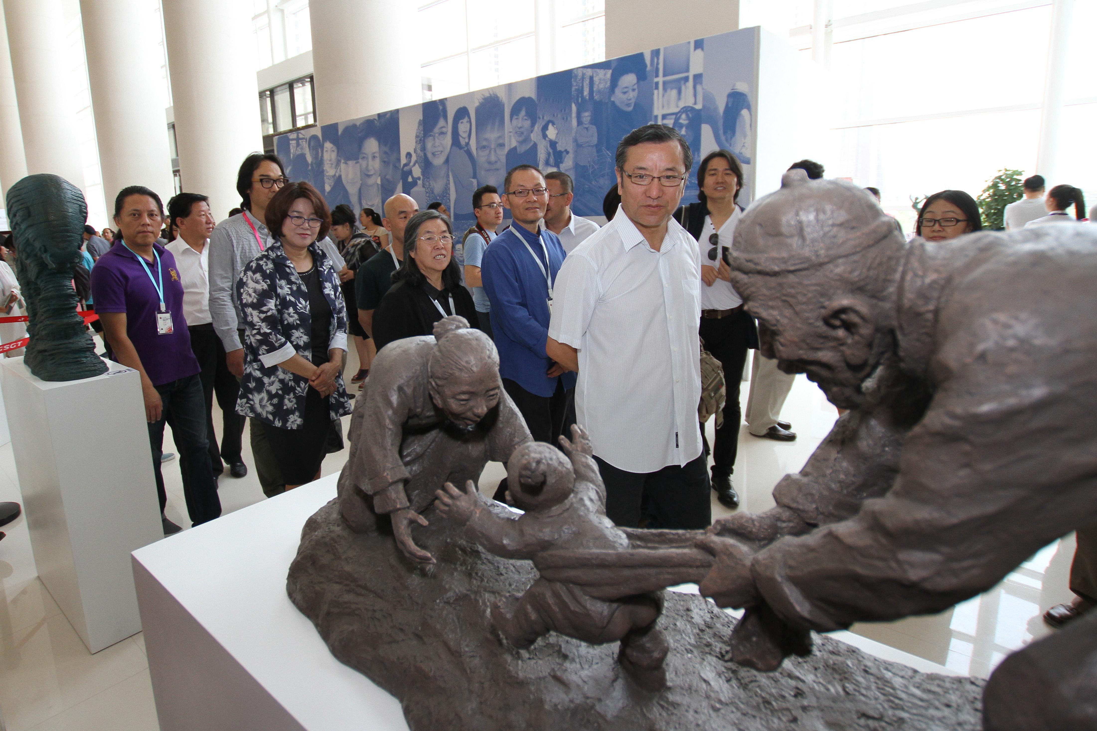丝路之光 2015兰州中韩雕塑邀请展 (2)